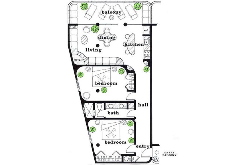 Las Palmas 2b Floorplan