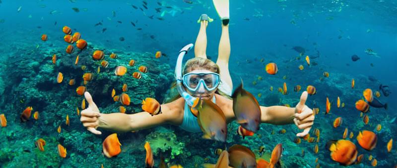 photo of snorkeler